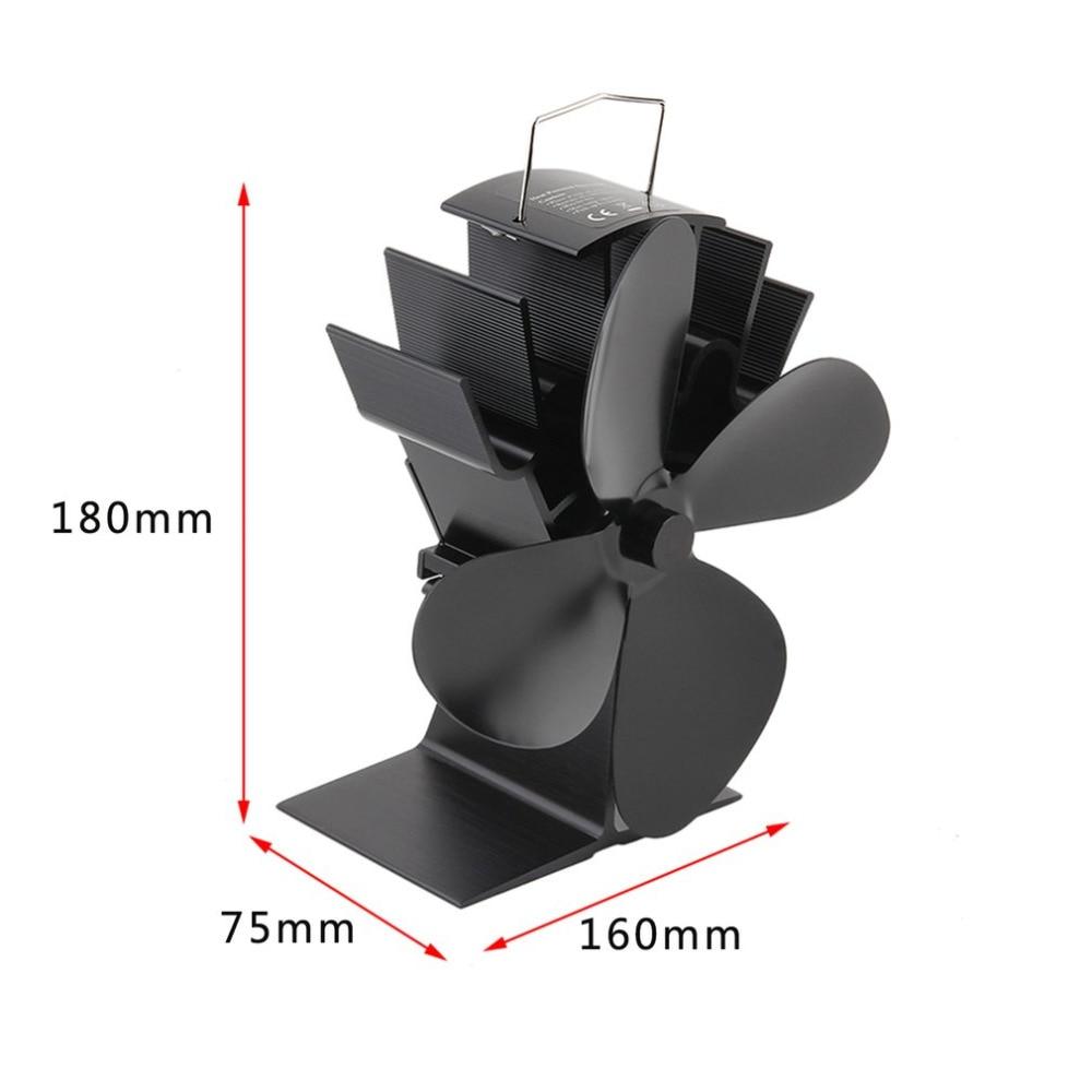 durable 4 klingen aluminium schwarz wärme versorgt herd fan