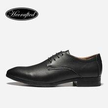 Taille 35 ~ 50 Hommes Robe Chaussures 2017 Nouveau HECRAFTED Vache split en cuir Classique Hommes D'affaires Officielles Chaussures #1569