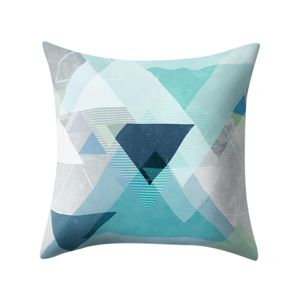 Gajjar Pillow Geometric Polyester Peachskin Satin Pillow