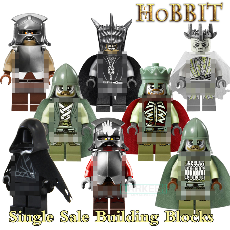 The Hobbit Lord of the Rings diy figures Uruk Hai RingWraith King of the Dead Mordor Orc Building Blocks Kids DIY Toys Hobbies lord of the rings pg518 witch king of angmar the black gate diy figures building blocks bricks kids diy toys hobbies single sale