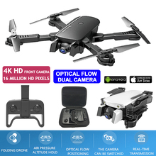 Dron 4K Drones With Camera HD WiFi FPV Optical Flow Positioning Dual Camera Helicopter Selfie Drone RC Quadcopter VS Visuo XS816 hot mini rc drone wifi fpv quadcopter profession dual camera 4k 1600p or 5mp otpro hd video altitude hold helicopter dron vs xs809hw professional drones 4k hd video fpv wifi with camera gimbal rc drone quadcopter dron