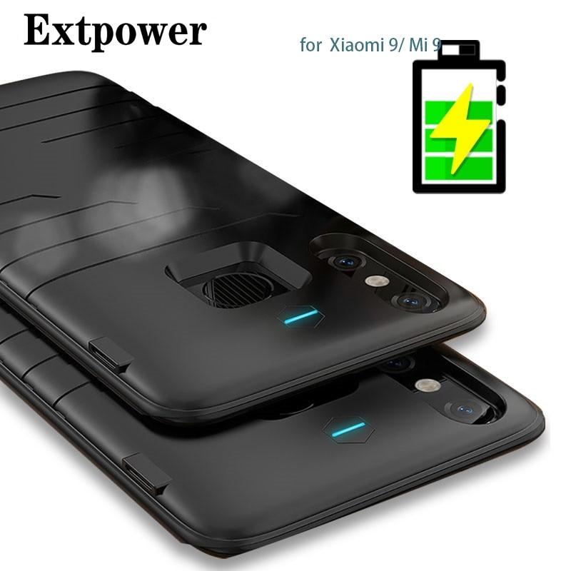 Caixa de Bateria 6800 mah Para Xiao mi mi 9 Ultra Slim Banco Do Poder à prova de choque de Silicone Caso ForXiao mi mi 9 mundial carregador de bateria Cheia