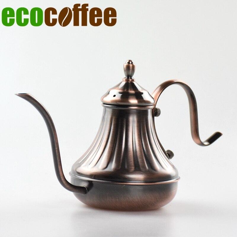 Free Shipping 450 ML V60 Coffee Drip Kettle Espresso Coffee Machine Server Brewer Pot Teapot