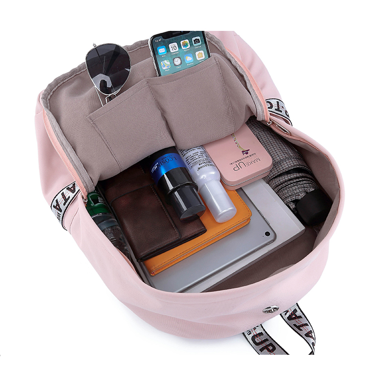 Image 5 - WINNER 2019 New Waterproof Women Backpack USB Charging Printing School Laptop Knapsack Female Travel Daily Mochila Bolsas Kawai-in Backpacks from Luggage & Bags
