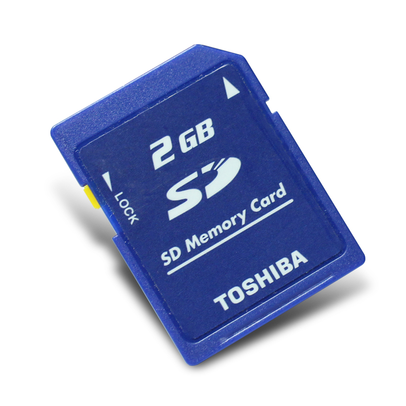 Original Toshiba SD Card 2GB Class2 SD 2G Memory Card Secure SD Memory Card for Digital Cameras