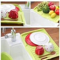 Kitchenware Plastic Dish Drainer Tray Sink Drying Rack Organiser Holder