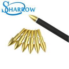6/9/12pcs Archery 75gr Arrowheads Broadheads Bullet Tips Points Target Bow Hunting Standard Screw Insert Arrow Heads Arrows