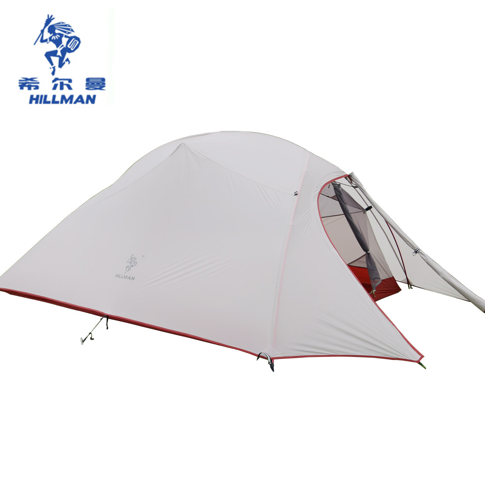 Double Layers Ultralight camping Tent 3-4 Person 20D Silicone Coated Nylon Tents 4 Season Aluminum Rod Waterproof PU8000+ naturehike 2 person tent ultralight 20d silicone fabric tents double layer aluminum rod camping tent outdoor tent 4 season