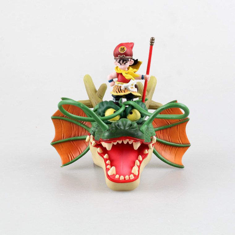 Free Shipping 15cm High quality Bandai pop Dragon Ball Z son goku Riding a dragon action figure Christmas gifts New Year gift ...