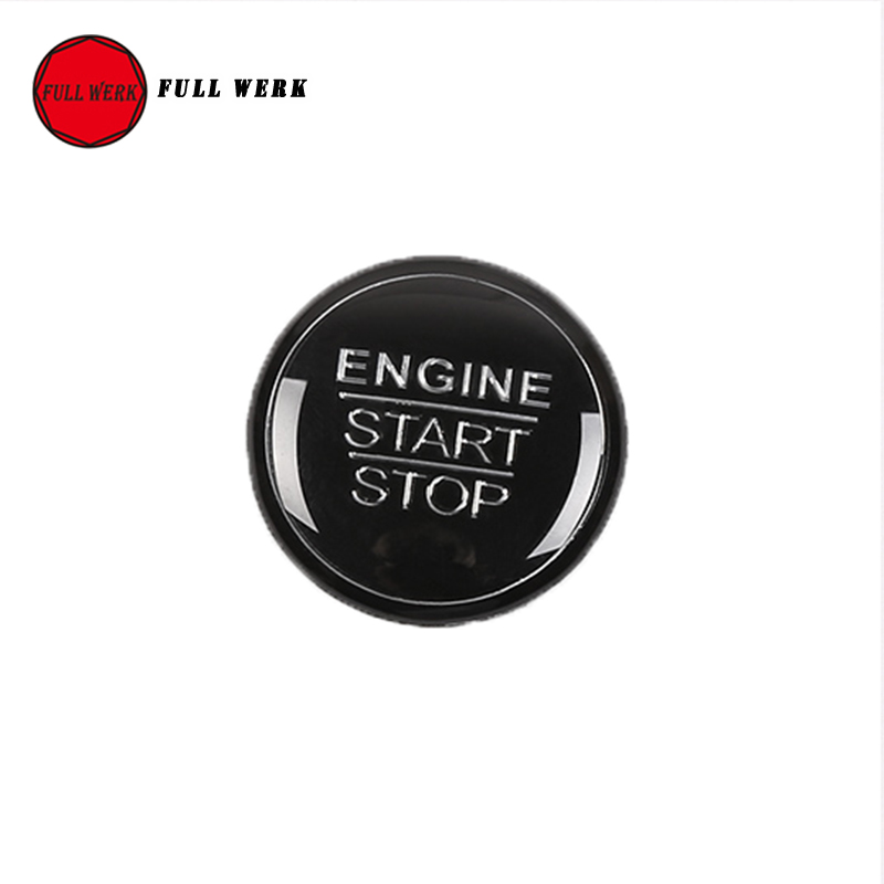 Car Ignition Key Ring Cover Trim Car Start Engine Stop Button Cover Sticker for Toyota Camry 2018 Interior Mouldings Accessories