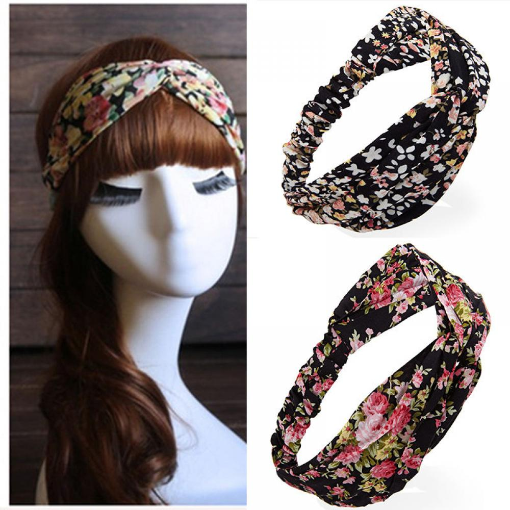 Women Cotton Turban Twist Knot Head Wrap Cloth Beauty Headband Twisted Knotted Hair Band Random Color 1PC Fashion New   Headwear