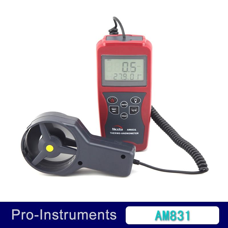 AM831 LCD Handheld Digital Anemometer Wind Speed Meter & Temperature Measuring with Vane Sensor Backlight  цены