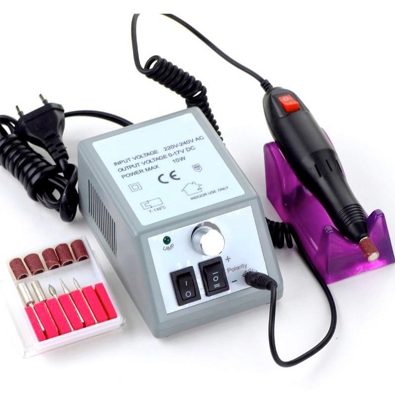 110V-240V Adjustable Speed Reverse Rotation Salon Nail Manicure Drill Tools Art Pedicure Set Nail Polishing Machine