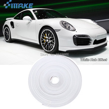 smRKE 8M Car Wheel Hub Rim Edge Protector Ring Tire Strip Guard Rubber Stickers On Cars White Styling