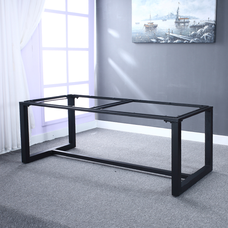 American Wood Computer Desk Furniture, Wrought Iron Large Long Table Wind  Industry Work