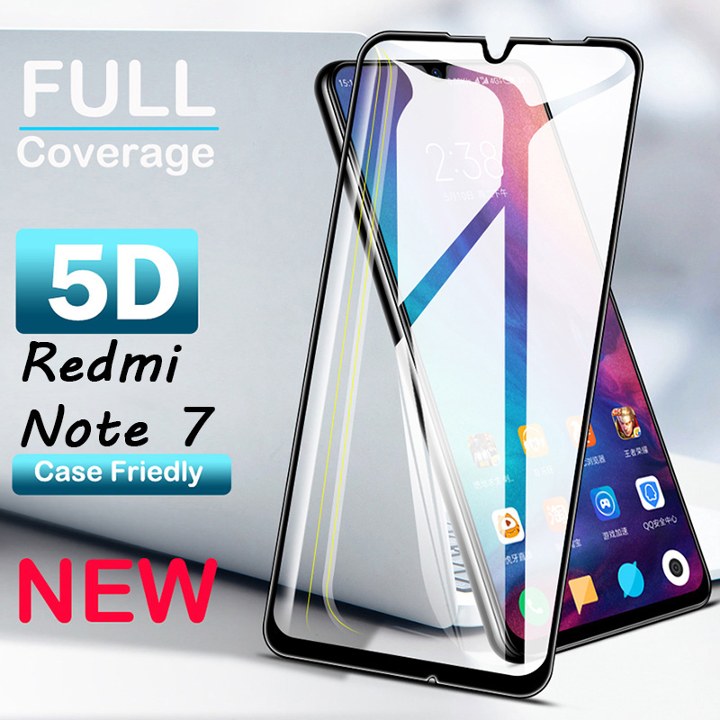 9D Screen Protector Tempered Glass For Xiaomi Redmi Note 7 5 5A Redmi 6A 5A Protective Glass For Redmi 5 Plus 6 Pro Cover Film