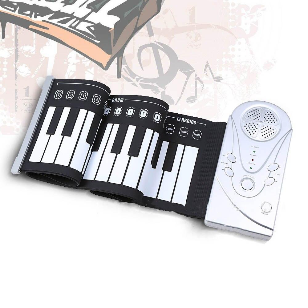 Portable 49 touches Flexible retrousser Piano électronique clavier souple exercice Piano jouets pour enfants enfant apprentissage cadeau