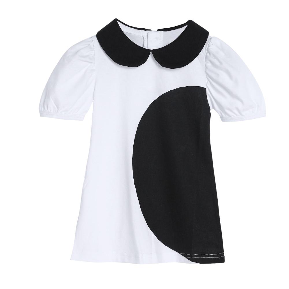 Design t shirt colar - 2017 The Latest Fashion Design Kids Baby Girls Bat Shirt Cotton Short Sleeved T Shirt Collar Arch Bat Shirt 1 To 6 Years