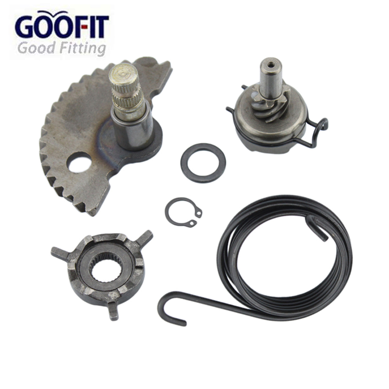GOOFIT Kick Start Gear Kit Kit dengan Spring Washer for gy6 50cc 60cc 80cc 139qmb Scooter Moped Roketa Taotao Jonway K070-047-1