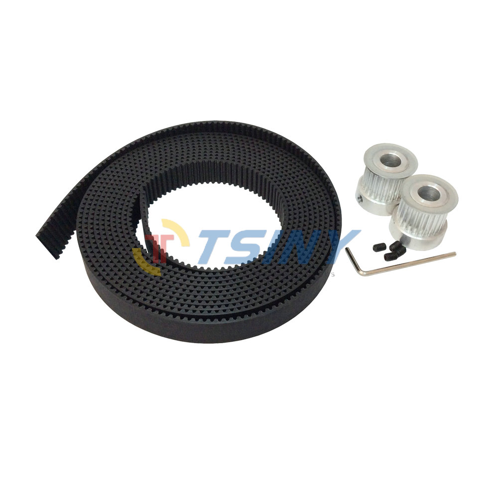 2pcs 3M Belt Pulley 20 Teeth Bore 5mm 6mm 6.35mm 8mm 12mm&3M Polyurethane with Steel Core Open Timing Belt L=3 Meter W=15mm 3m timing belt pulley 5pcs 15 teeth 3m pulley bore 5mm 6mm 6 35mm 8mm