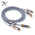 YYAUDIO C1 Hifi Rca кабель 6N OFC YYTCG 2-штекерный к 2-мужскому RCA стерео аудио кабель