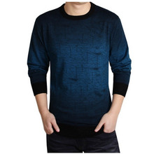 2017New Men Brand Clothing Mens Sweaters Print Hang Pye Casual Shirt Wool Pullover Men Pull O-Neck Sweaters
