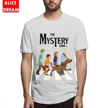 Mens Quality T shirt Scooby Doo Abbey Road Tee Graphic T-Shirt Round Collar S-6XL Camiseta 3D Print Fashionable Tees