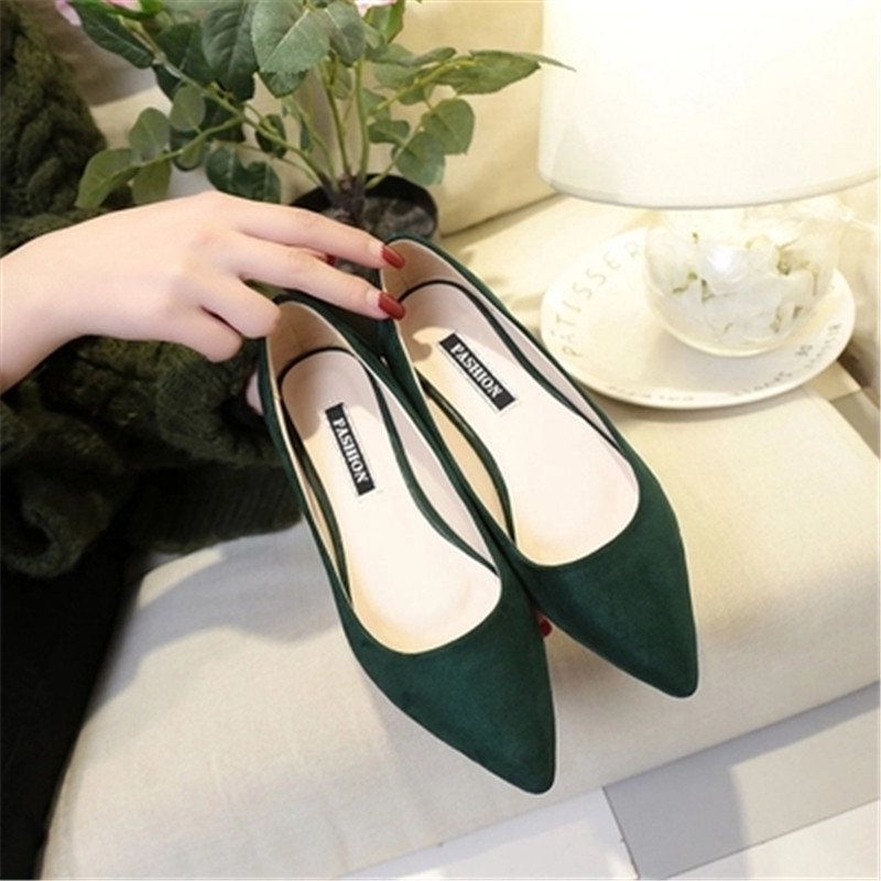 New Women Suede Flats Fashion Ballerina Ballet Flat Slip On Shoes High Quality Basic Mixed Colors Pointy Toe hot sale 2016 new fashion spring women flats black shoes ladies pointed toe slip on flat women s shoes size 33 43