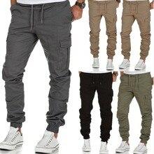 цена на 2018 Work Pocket Trousers Man Leisure Time Motion joggers sweatpants pantalon homme camo track pants calca masculina Rushed