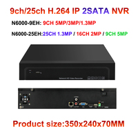 H 264 Onvif NVR 9ch 25ch 5mp 3mp 2mp Ip Camera Network Video Surveillance Recorder 2x