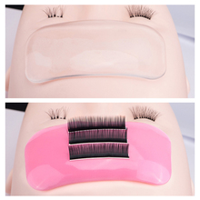 цена на SONG LASHES Silicone Eyelash Extension Stand Pallet Pad Lash Tray Holder Tool Clear lash Holder Forehead sticker silica gel