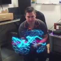 ZMHEGW Ologramma 3D Display Advertising LED Fan Immagine Olografica 3D Occhio Nudo LED Fan 3D Display LED Fan Trasporto di Goccia