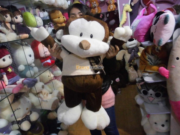 Fancytrader Real Pictures! 39'' / 100cm Giant Stuffed Cute Soft Plush Monkey, Nice Baby gift, Free Shipping FT50572