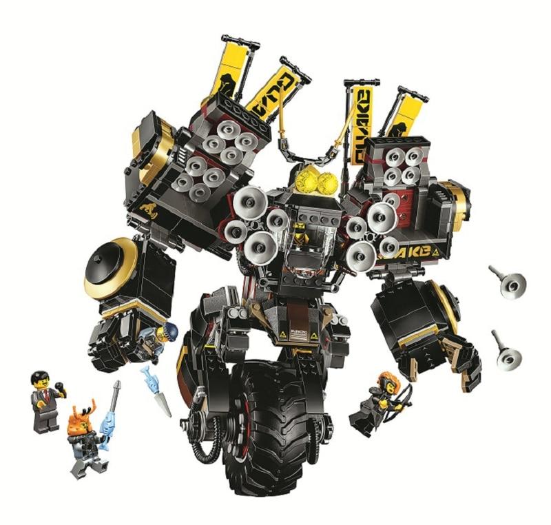 10800 Ninja Movie Quake Mech Compatible Ninja Block Set Creative Building Toys for Children