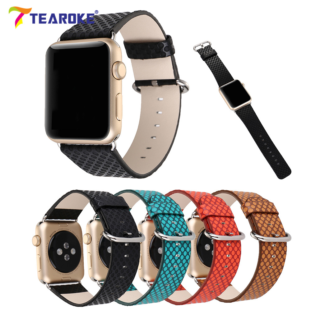 Leather Watchband For Apple Watch 38mm 42mm Fashion Dot Pattern Women Men Replacement Band Strap for iwatch 1 2 3 Black Green fashion union flag pattern 5cm width black tie for men