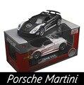 1:32 Diecast Liga Modelo de Carro Esportivo de Martini Três-porta luz Som Pull back Inércia Coleções de Alta Simulação de Presentes de Aniversário