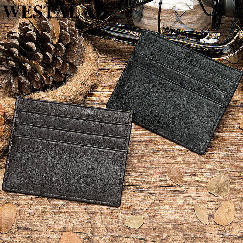 Men/'s Genuine Leather Thin Wallet ID Money Credit Card Slim Holder Pocket New