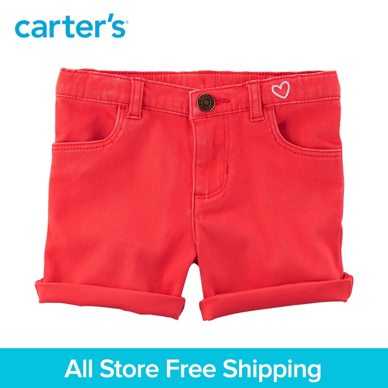 Carters 1-Piece Stretch Skimmer Shorts girl summer baby children kids clothing 258G999/278G857
