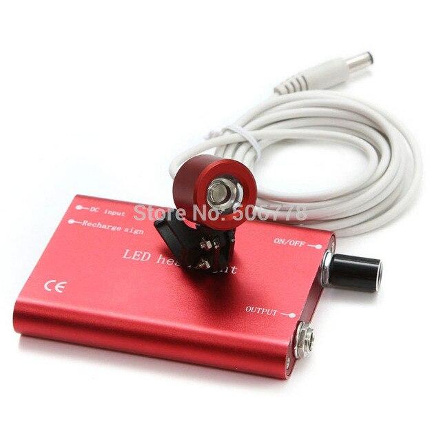CE FDA Dental Doctor assistant red Portable LED Head Light Lamp for Dental Surgical Medical Binocular Loupe