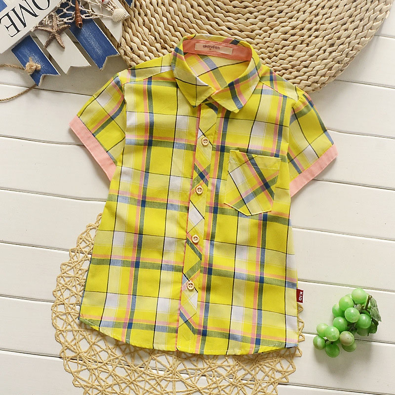 2019 new fashion baby boys shirts summer short sleeve kids clothes shirt best quality children clothes suit for boys retail in Shirts from Mother Kids