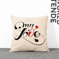 Офисные подушки декоративные для дивана, стула подушки word art декоративная подушка, наволочки Cojines 45*45 см
