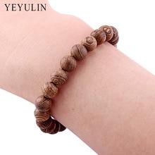 New Arrival 8mm Wenge Wood Buddha Beads Bracelet For Women Men wooden Bangles Jewelry Gift