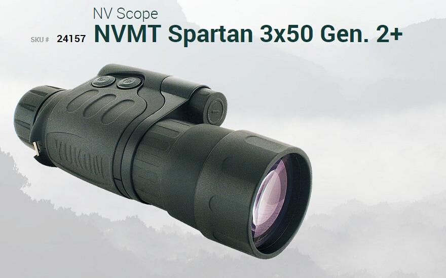 High quality Yukon night vision 3x night vision monocular for hunting 24157 max. 600M  NVMT Spartan night vision scope G2+ 3X50 прибор ночного видения yukon nvmt spartan 3x42