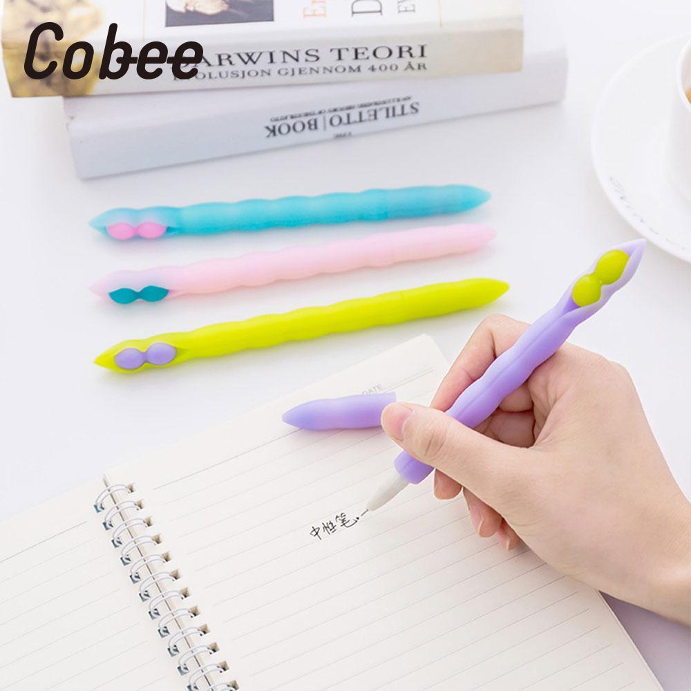 Roller Ball Pen Lentil Gel Pen Office Writing Pen Silica Gel 0.38MM