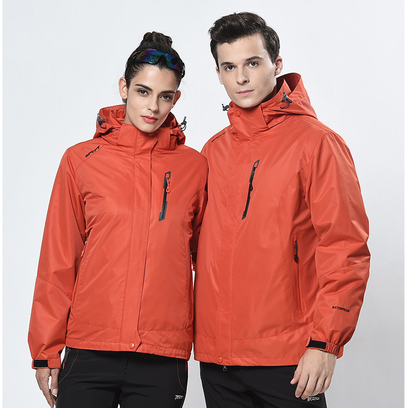 2017 new outdoor sports jackets couple pure color two-piece three-in-one fishing suit hiking jacket winter skiing hunting jacket fred blunt one two three