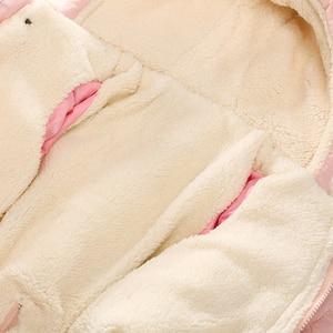 Image 5 - Ircomll Winter Infant Baby Girl Boy Romper Autumn Jumpsuit Hooded Inside Fleece Toddle Winter Autumn Overalls Children Outerwear