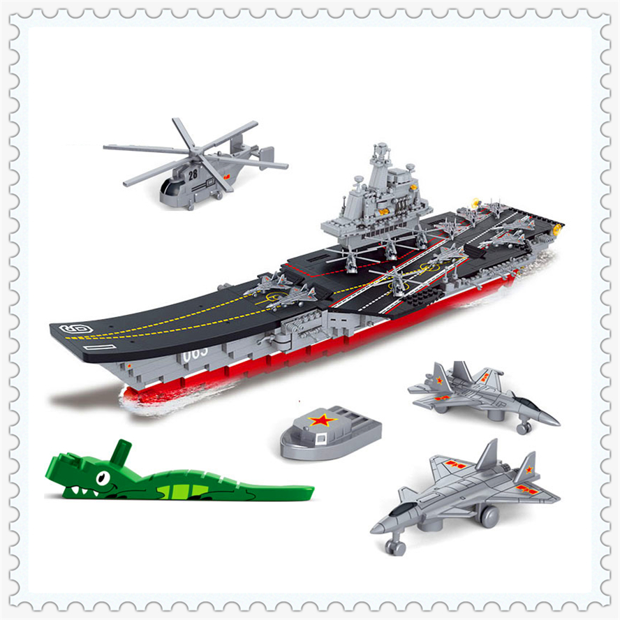 1059Pcs Building Block Toys Military Carriers Aircraft Warship SLUBAN B0399 Figure Brinquedos Gift For Children Compatible Legoe