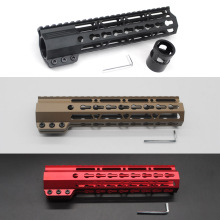 "9"" Clamping Slim Keymod Handguard Free Float Picatinny Rail Mount System Black/Tan/Red Color Fit .223/5.56 Rifle AR-15/M4/M16"