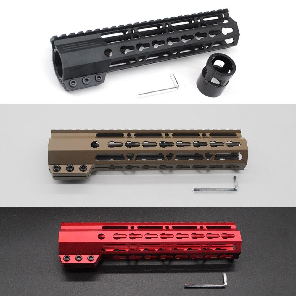 9'' Clamping Slim Keymod Handguard Free Float Picatinny Rail Mount System Black/Tan/Red Color Fit .223/5.56 Rifle AR-15/M4/M16