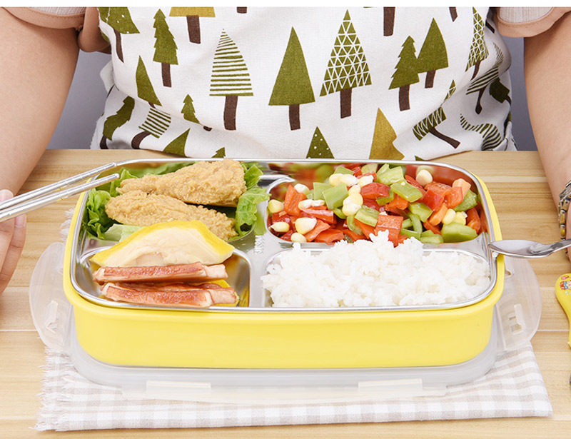 304 Stainless Steel Cartoon Bento Box For kids School Portable Cute Plastic Lunch Boxs Japanese Style Sushi Food Containers 22